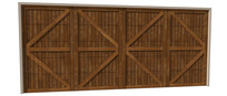 朴实木质车库门模型