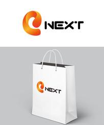 橘色简约公司logo