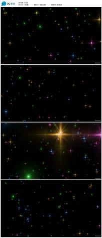 彩色星光闪烁背景视频