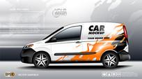 车体广告设计AI模板