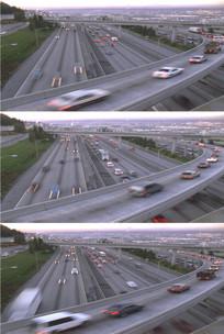 大城市交通高架桥高速公路汽车穿行视频 mov
