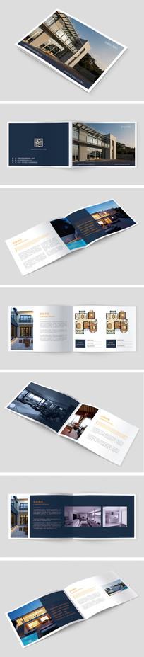 蓝色简约室内装饰设计案例画册