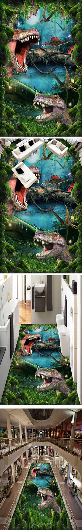 梦幻恐龙3D立体地画