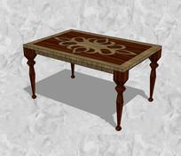 木制花雕桌子