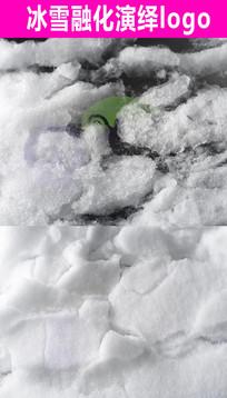 冰雪融化Logo展示片头视频