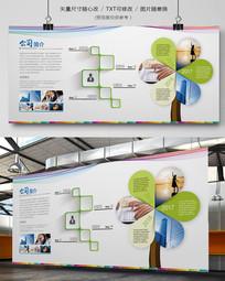 企业文化墙形像图片展板