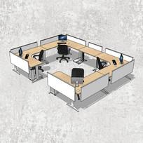 围栏式办公桌