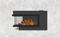 现代矮壁炉