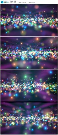 绚丽星空粒子舞台背景视频素材