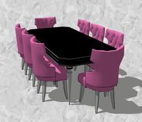 紫黑色餐桌