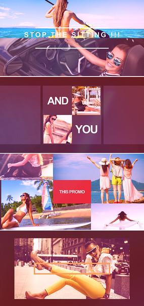 ae图文快速切换美女写真相册片头模板