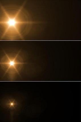 光斑光芒开始闪烁到消失视频可循环