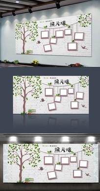 大树风格照片墙校园照片墙卡通照片墙