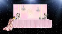 粉色婚礼签到区 PSD