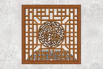 福字中式木质方格纹