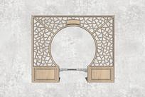 拱门方格中式窗户文