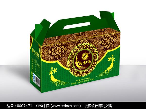 古典绿色礼盒包装设计图片