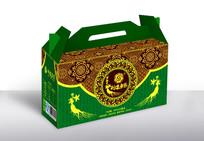 古典绿色礼盒包装设计