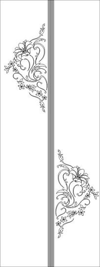 花纹平开门雕刻图案