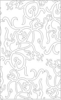 龙纹形雕刻图案