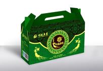绿色尊贵礼盒包装  AI