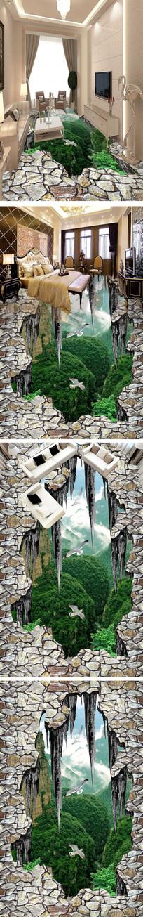 山谷地裂3D地画