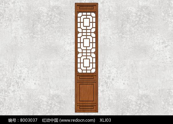 中式花纹门扇图片