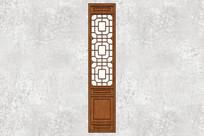 中式花纹门扇