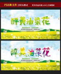醉美油菜花宣传海报展板