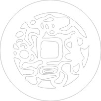 抽象铜钱雕刻图案