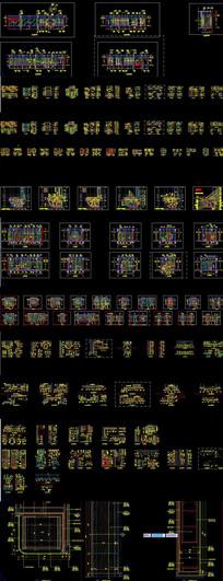 毛织工装剖面设计施工图cad立面展厅图纸图图vr大样制作凸透镜图片
