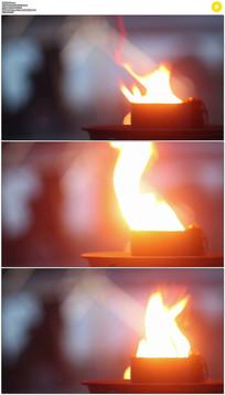 燃烧的火焰实拍视频素材