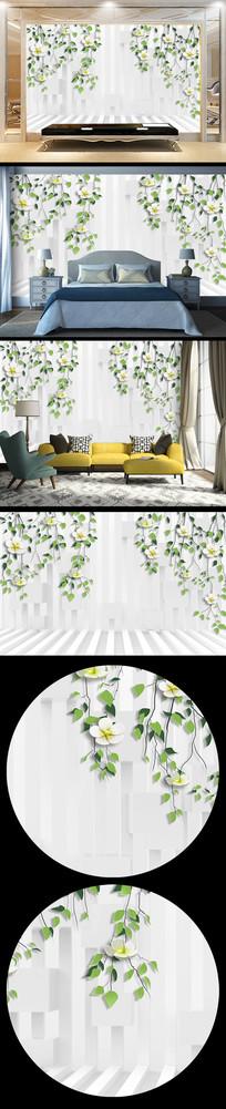 植物立体背景
