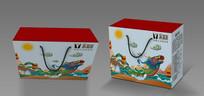粽子包装盒插画