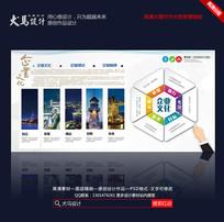 创意大气企业文化公司发展历程展板设计模版