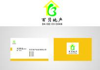 房地产LOGO百贝地产logo CDR