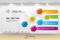晶莹水晶几何方块企业文化墙背景设计