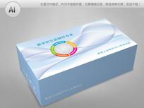 蓝色科技背景义齿产品包装盒