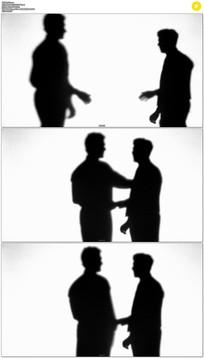 商务人物握手剪背景视频素材