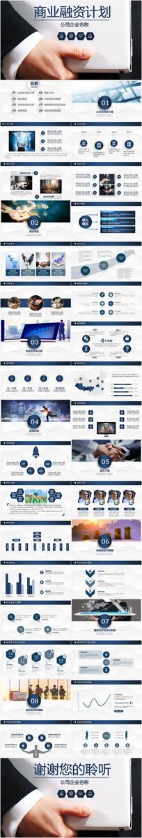 商业融资创业计划书PPT模板