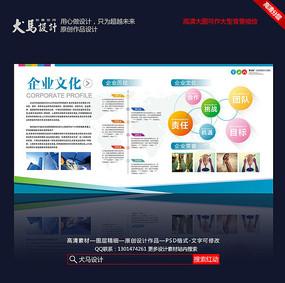 时尚创新企业文化发展历程展板广告设计