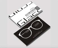 时尚摩登眼镜名片