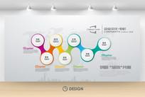 水晶几何发展历程企业背景墙设计