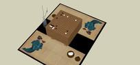 围棋棋盘桌子的SU模型