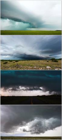4K龙卷风暴壮观延时摄影