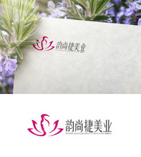 粉色美容logo