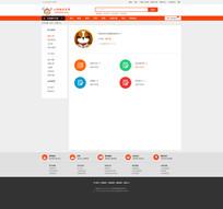 简洁大气电商会员中心网页设计 PSD