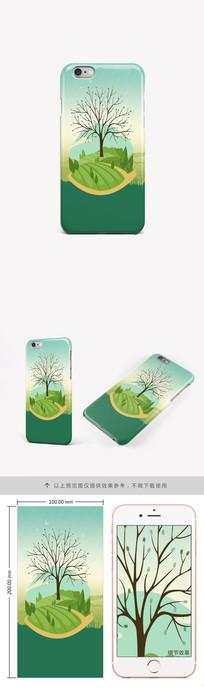 简约时尚风景手机壳图案