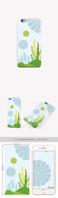 简约时尚水草手机壳图案