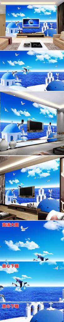 时尚城堡电视背景墙